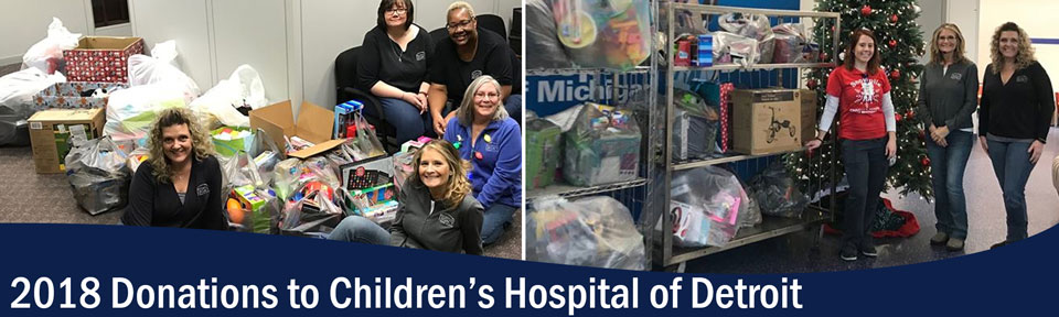 2018 Donations to Children's Hospital of Detroit